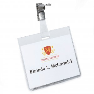 SECURITY NAME BADGE - LANDSCAPE 60 X 90 MM
