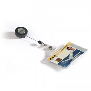 SECURITY PASS HOLDER WITH BADGE REEL