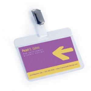 SELF-LAMINATING NAME BADGE 54X90MM