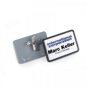 CLIP-CARD BADGE WITH COMBI-CLIP