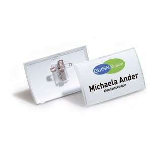 CLICK FOLD BADGE WITH COMBI CLIP 40X75MM