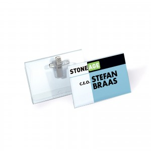COMBI CLIP NAME BADGE 54X90MM PK 5