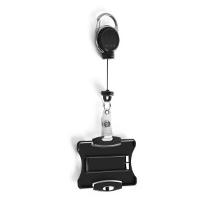 DURABLE CARD HOLDER WITH EXTRA STRONG BADGE REEL