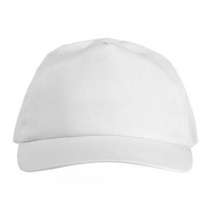 US BASIC 5 panel cap. White