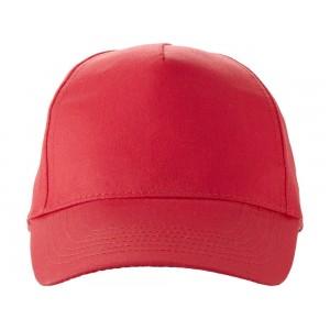 US BASIC 5 panel cap. Red.