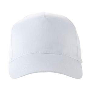 US BASIC 5 panel cap. White.