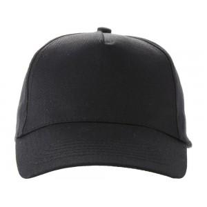 US BASIC 5 panel cap. Black.