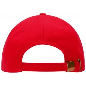 6 panel cap. Red.